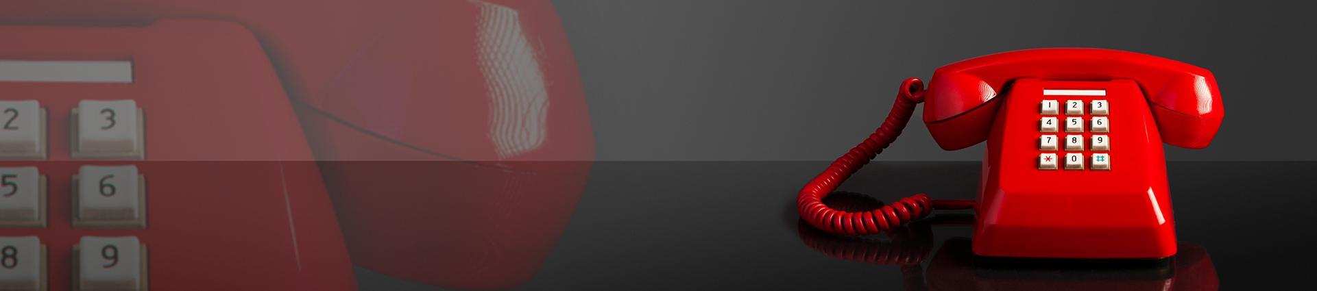 Banner kontakt Czerwony telefon
